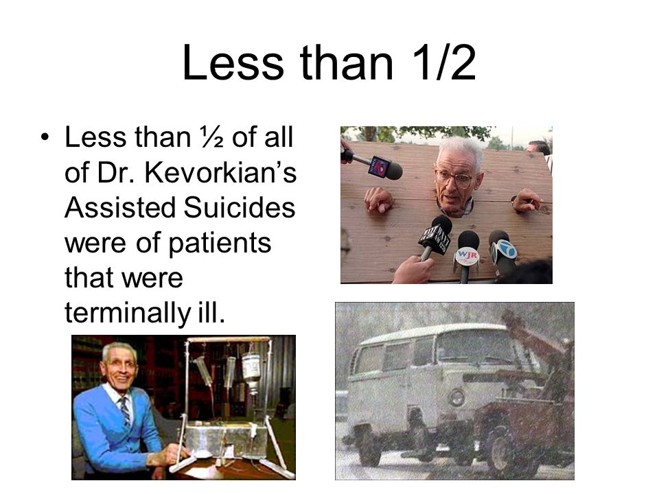 Less than 1/2 Less than ½ of all of Dr.