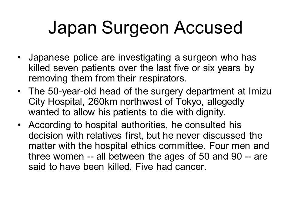 Japan Surgeon Accused