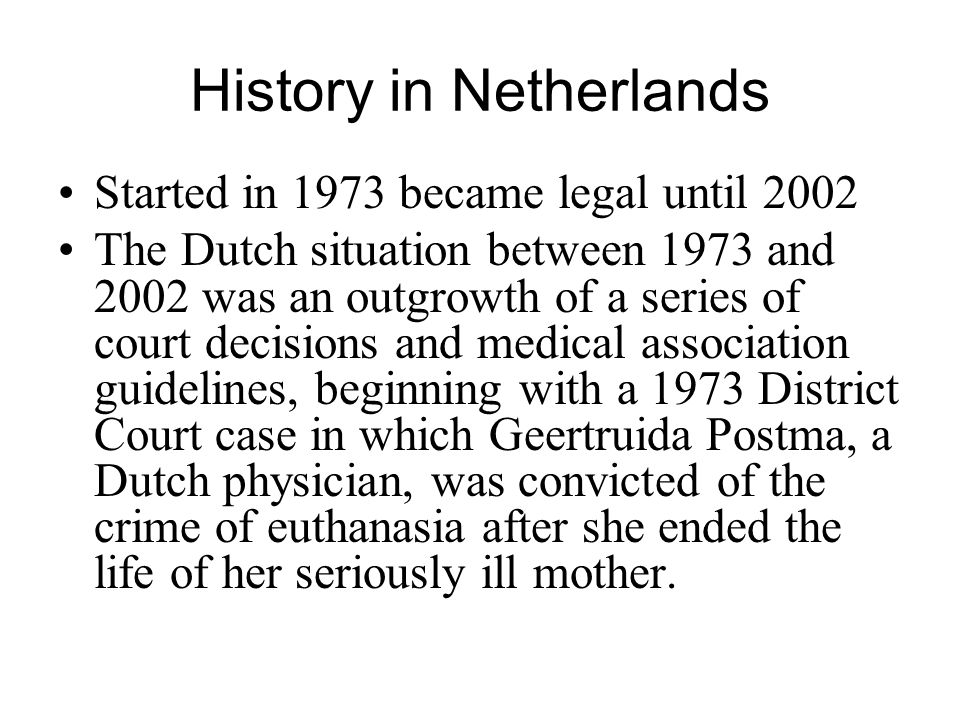 History in Netherlands