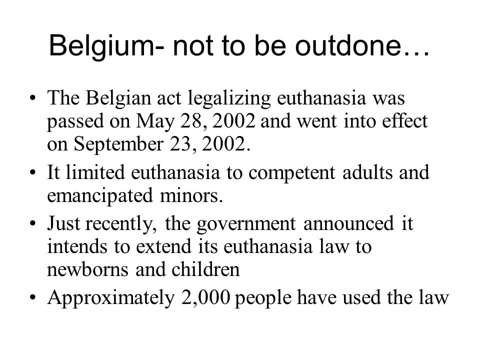 Belgium- not to be outdone…