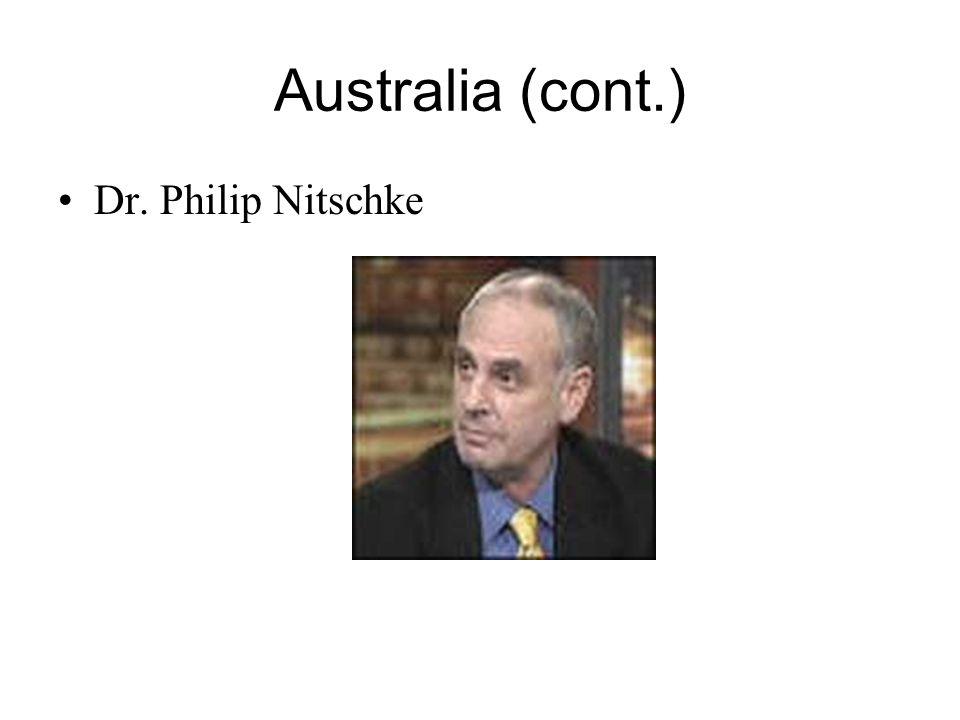 Australia (cont.) Dr. Philip Nitschke