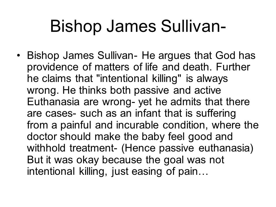 Bishop James Sullivan-