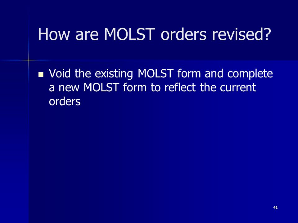 How are MOLST orders revised