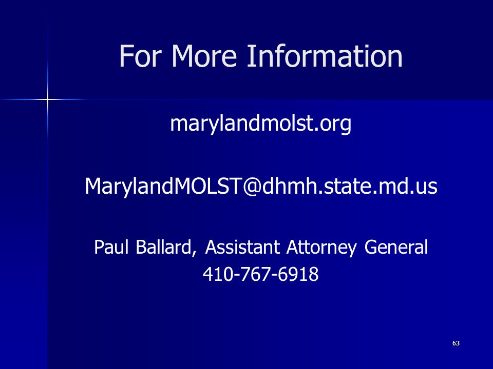 Paul Ballard, Assistant Attorney General