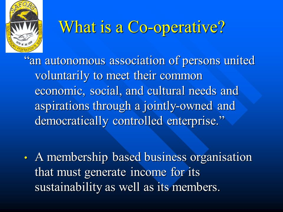 What is a Co-operative