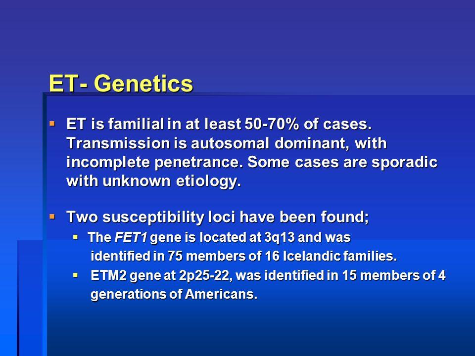 ET- Genetics