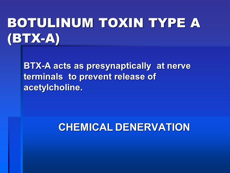 BOTULINUM TOXIN TYPE A (BTX-A)