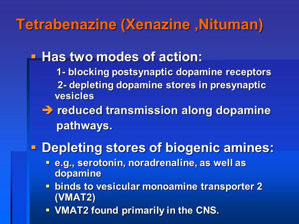 Tetrabenazine (Xenazine ,Nituman)