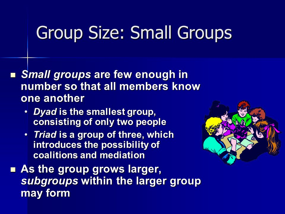 Group Size: Small Groups