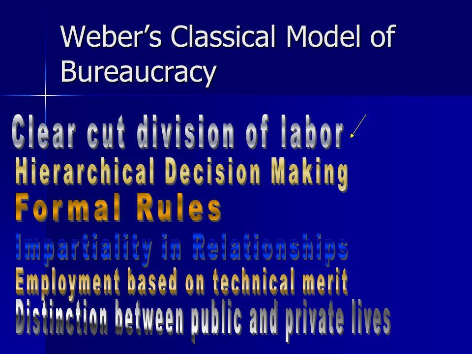 Weber's Classical Model of Bureaucracy