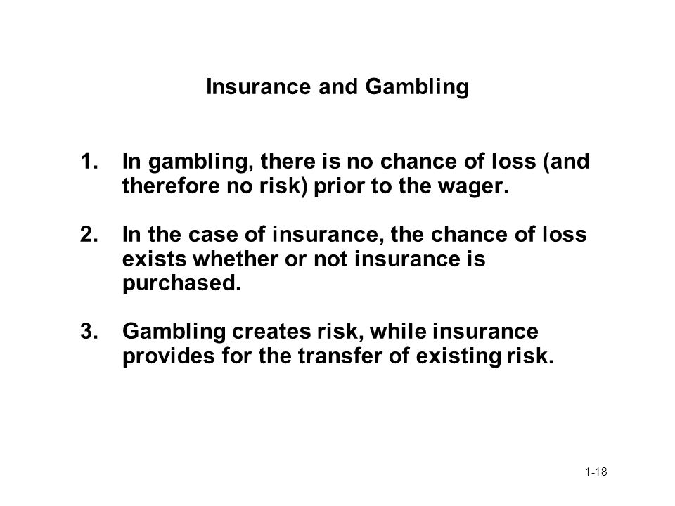 Insurance and Gambling