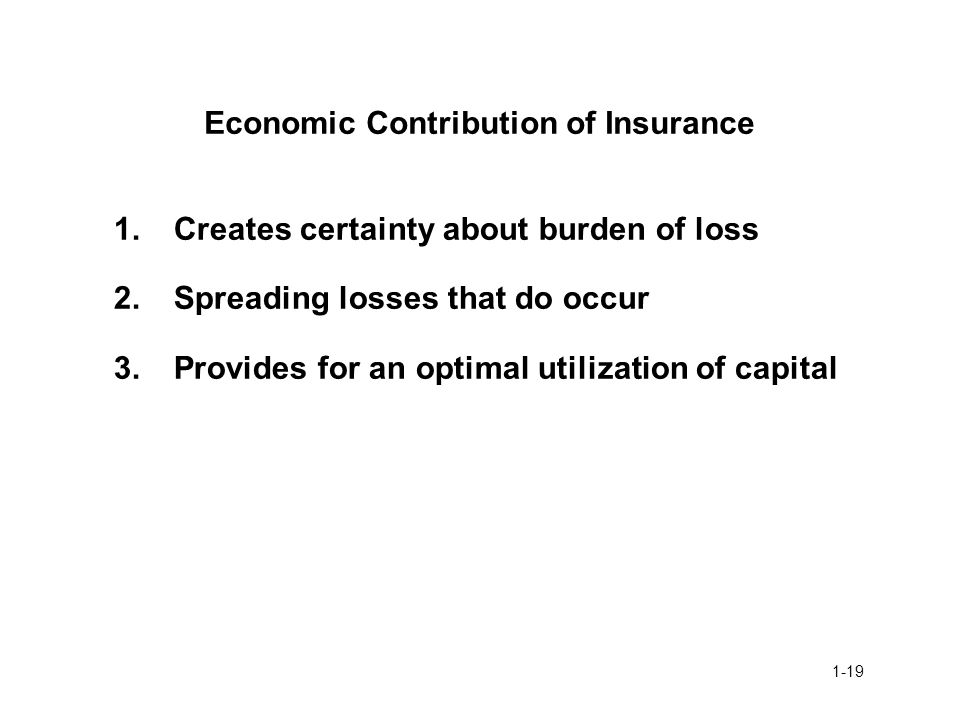 Economic Contribution of Insurance