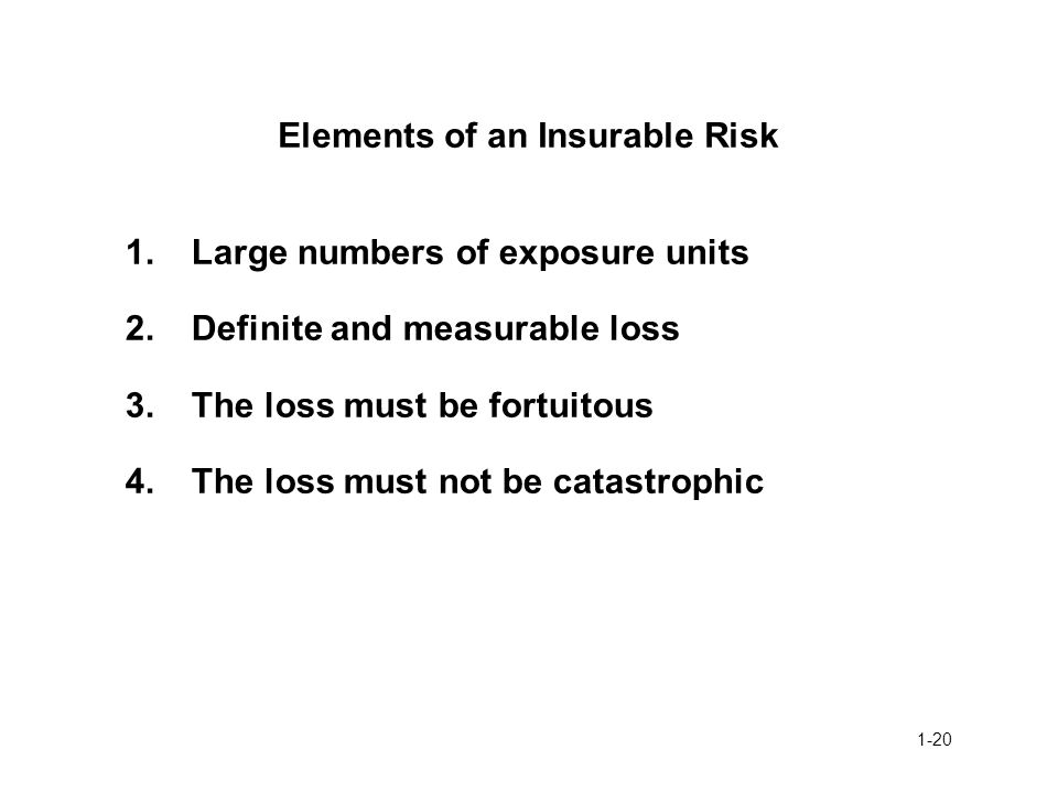 Elements of an Insurable Risk