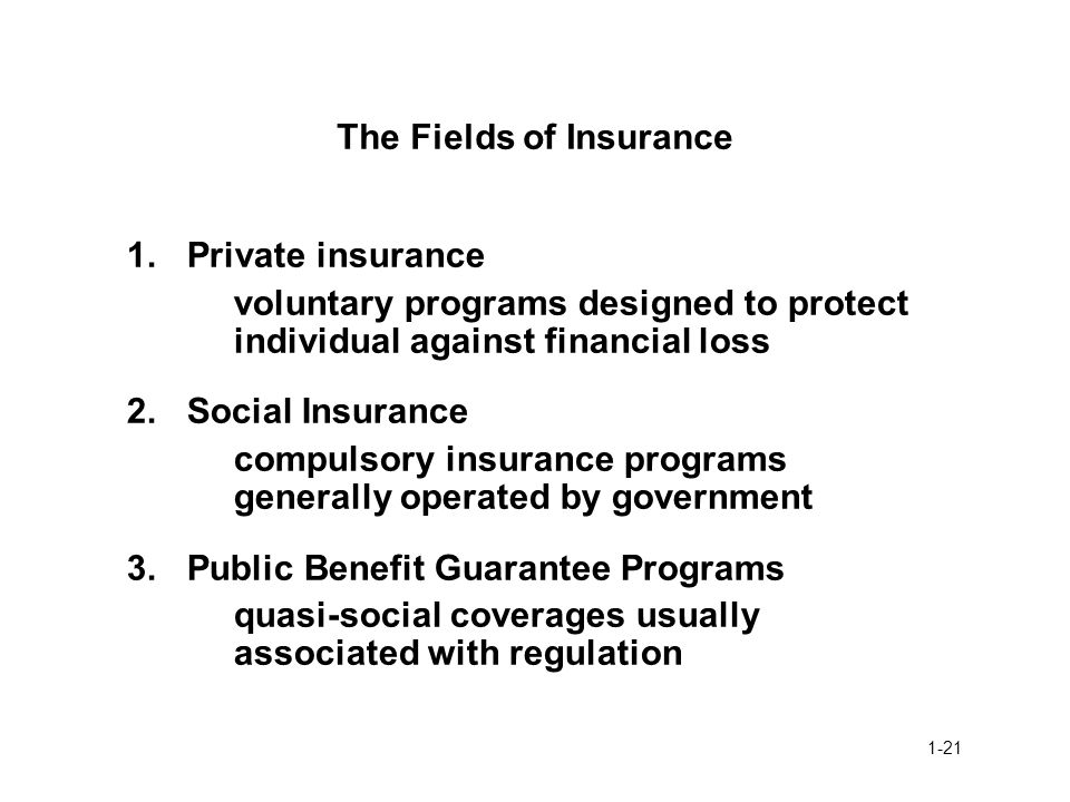 The Fields of Insurance