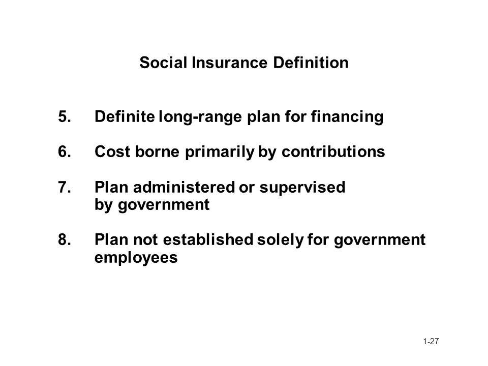 Social Insurance Definition