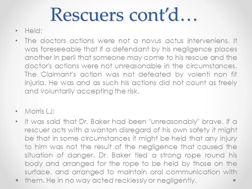 Rescuers cont'd… Held: