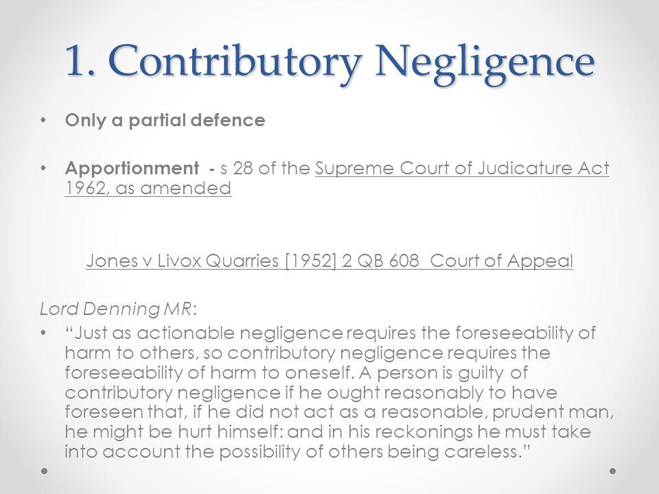 1. Contributory Negligence