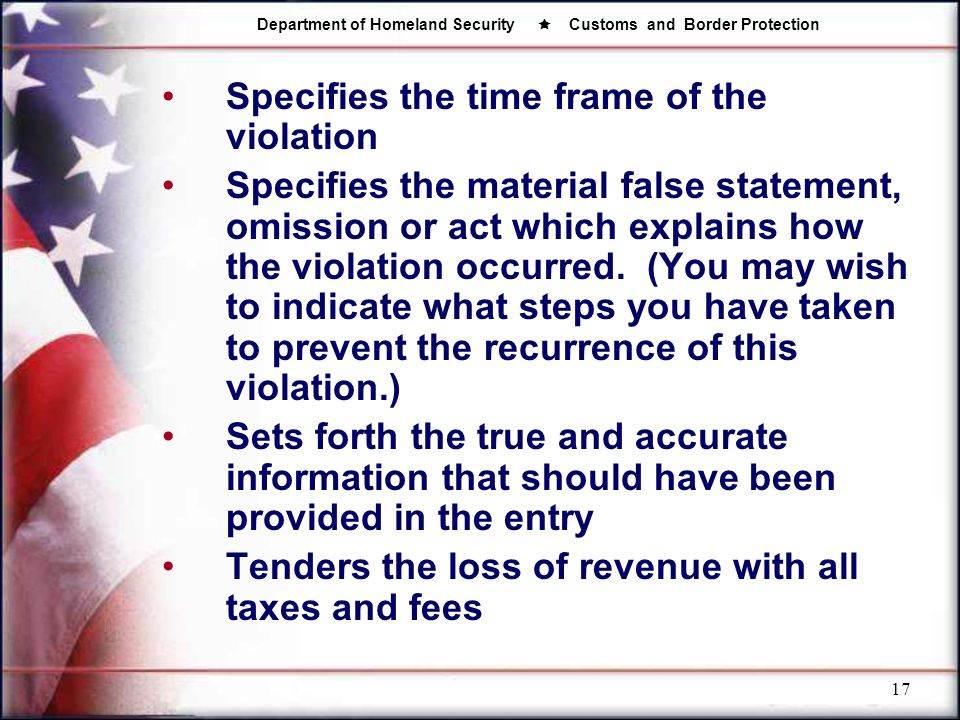 Specifies the time frame of the violation
