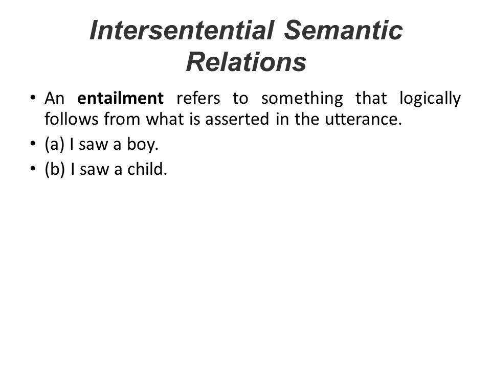 Intersentential Semantic Relations