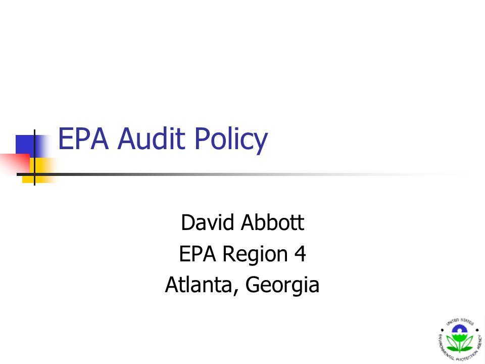 David Abbott EPA Region 4 Atlanta, Georgia