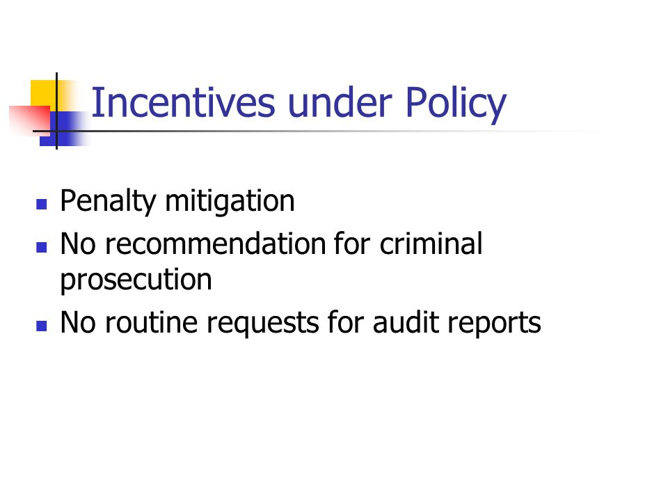 Incentives under Policy