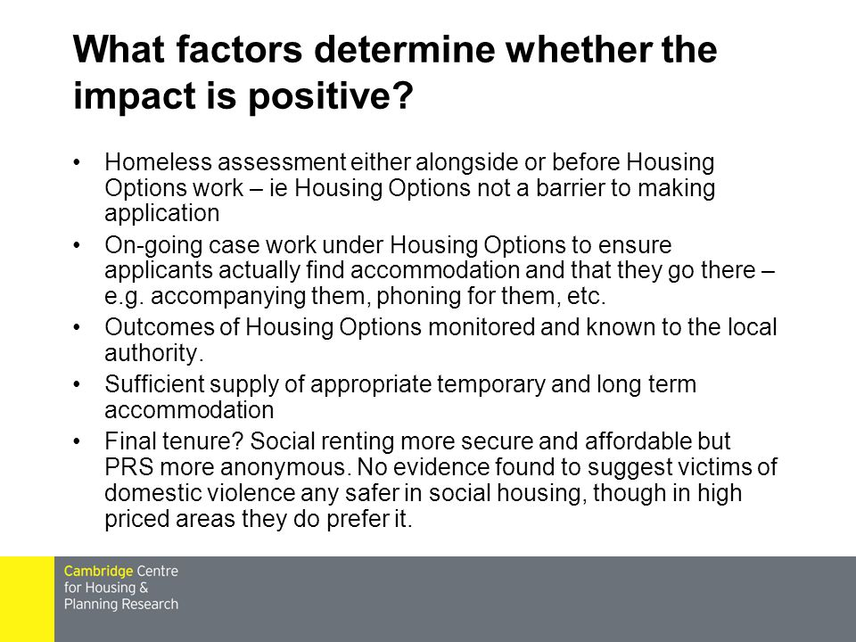 What factors determine whether the impact is positive