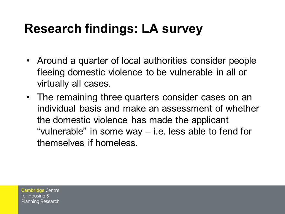Research findings: LA survey