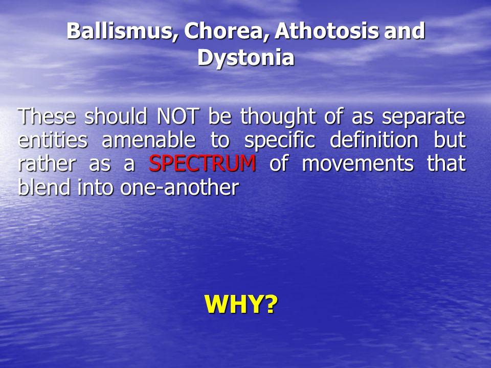 Ballismus, Chorea, Athotosis and Dystonia