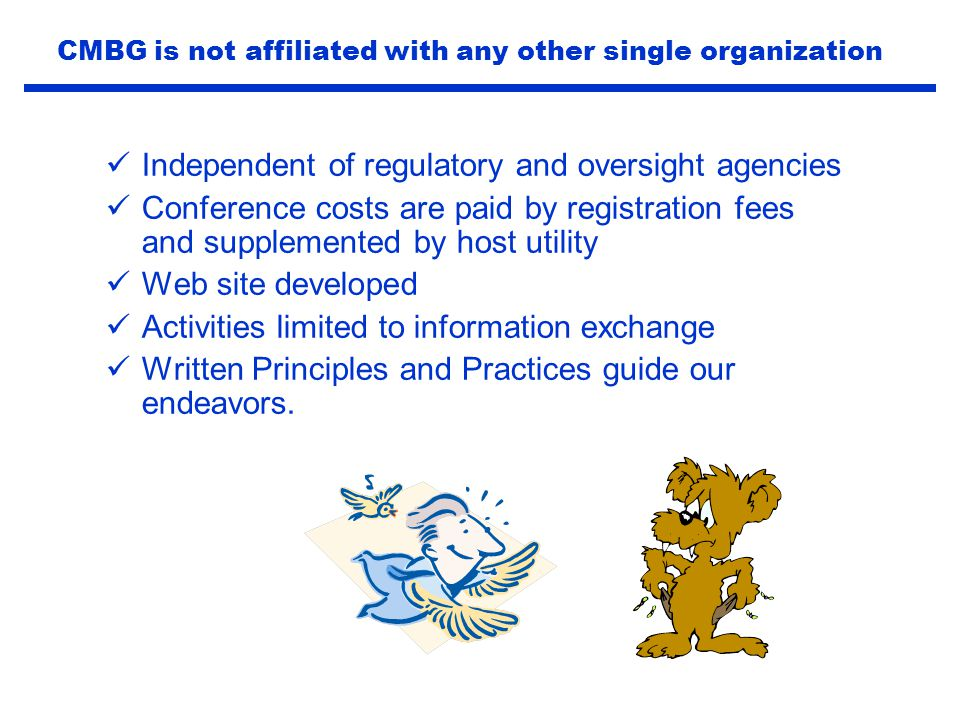 CMBG is not affiliated with any other single organization