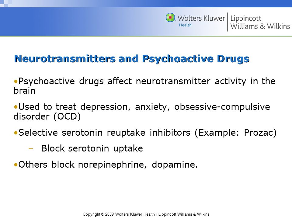 Neurotransmitters and Psychoactive Drugs