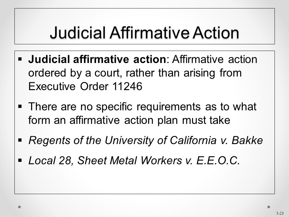 affirmative action program Affirmative action plan adopted by (insert employers names or employer group name or association) as required under title 29, code of federal regulations, part 30.