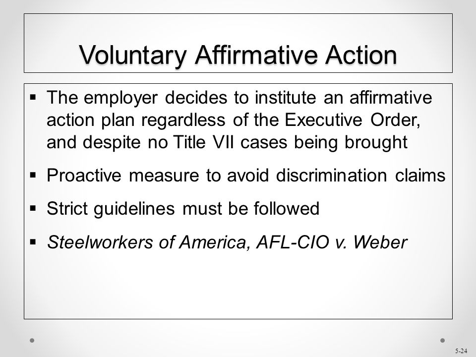 Chapter 5 Affirmative Action - Ppt Download
