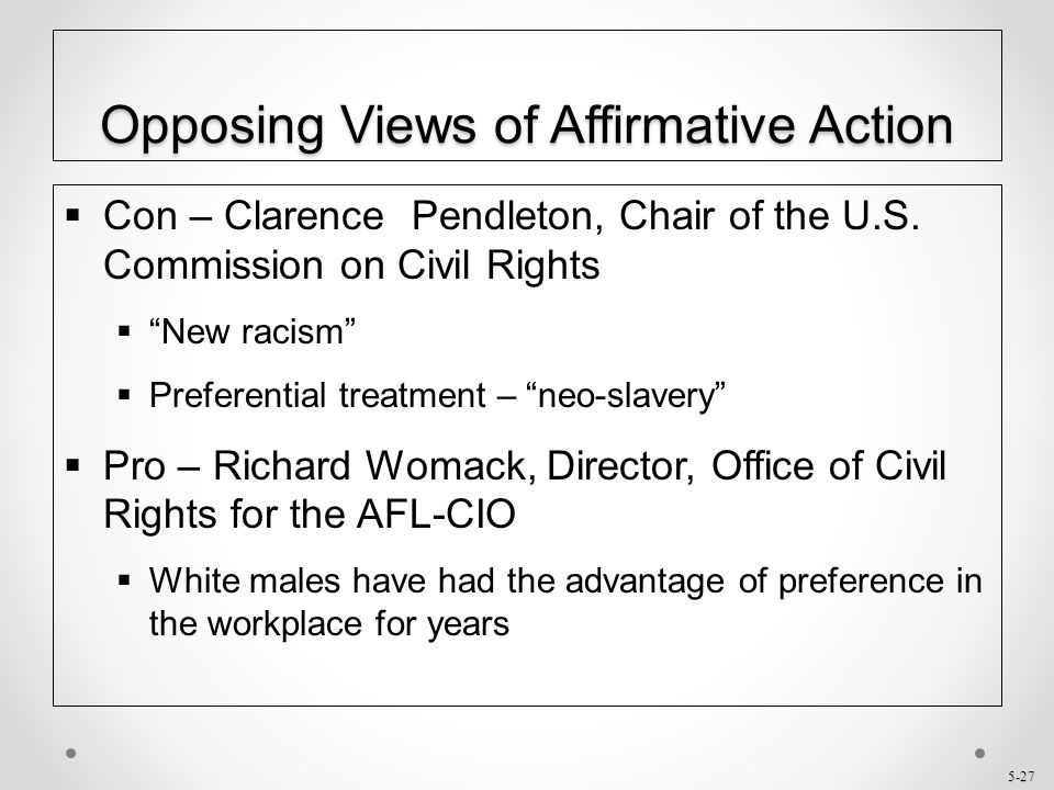 affirmative action recommendation 3 Affirmative action plan implementation checklistfor supply and service contractors action date completed 1 review the data portions of the affirmative action plan with.