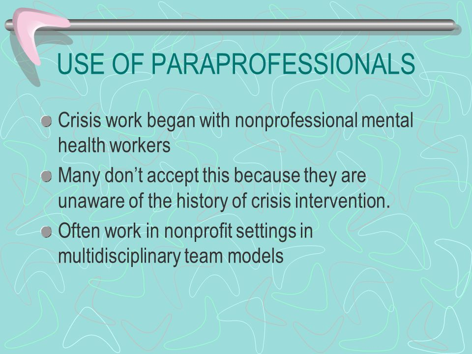 USE OF PARAPROFESSIONALS