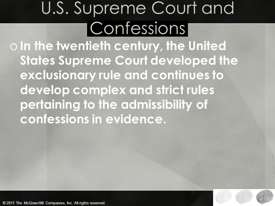U.S. Supreme Court and Confessions