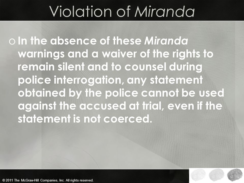 Violation of Miranda