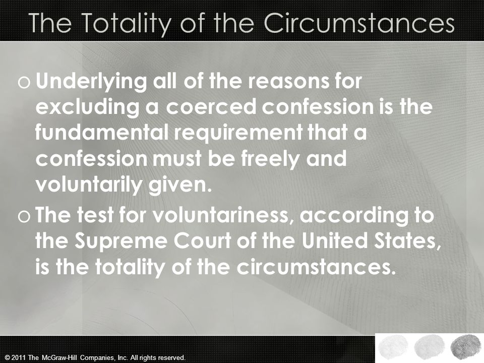 The Totality of the Circumstances