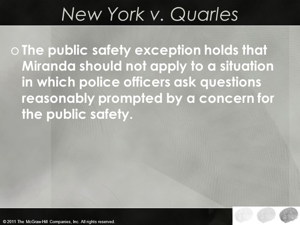 New York v. Quarles