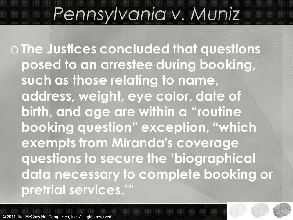 Pennsylvania v. Muniz