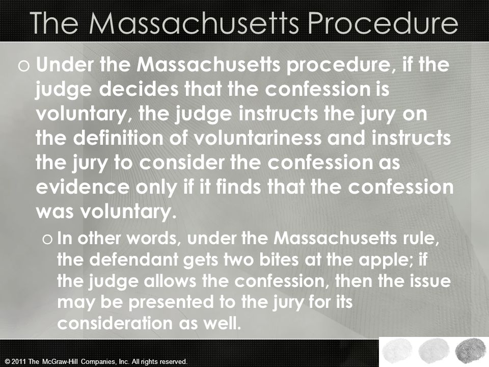 The Massachusetts Procedure