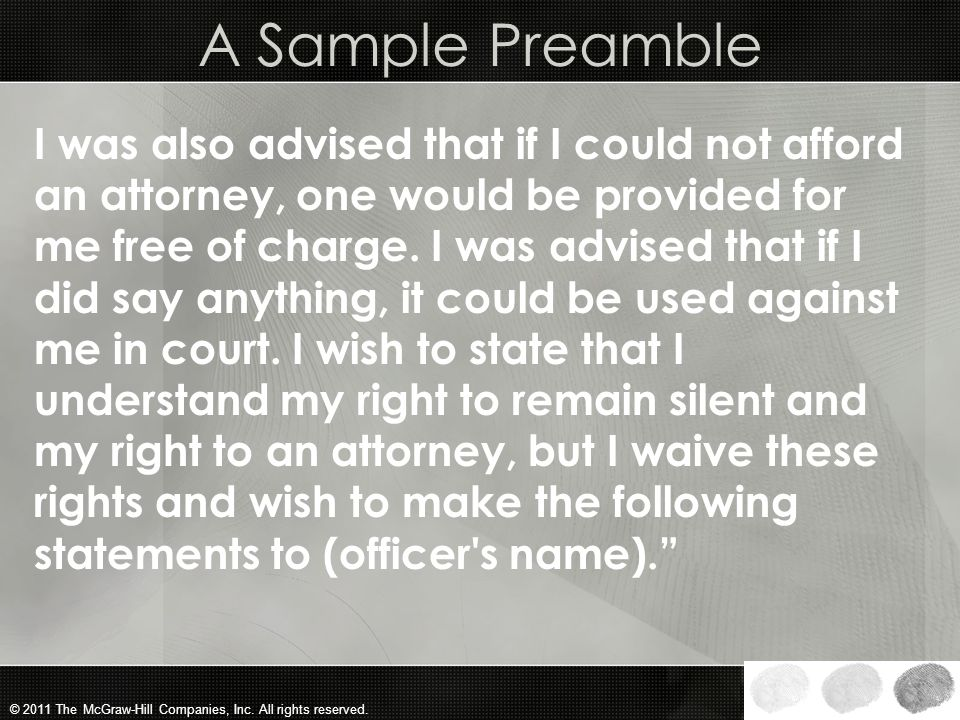 A Sample Preamble