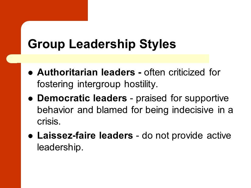 Group Leadership Styles