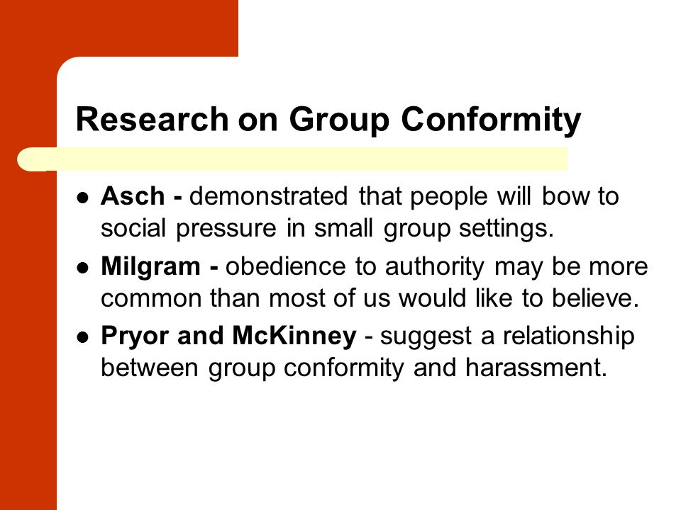 Research on Group Conformity
