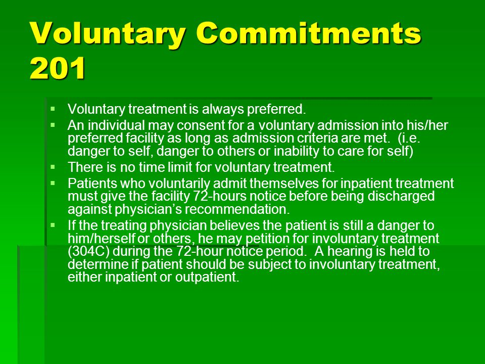 Voluntary Commitments 201