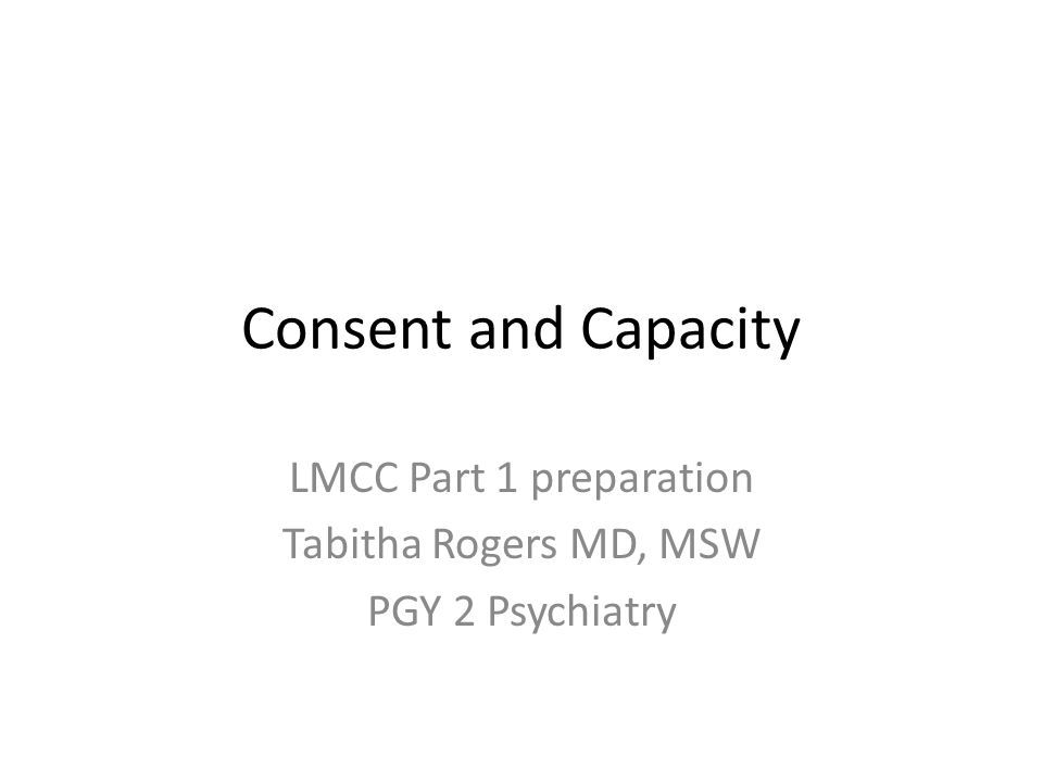 LMCC Part 1 preparation Tabitha Rogers MD, MSW PGY 2 Psychiatry