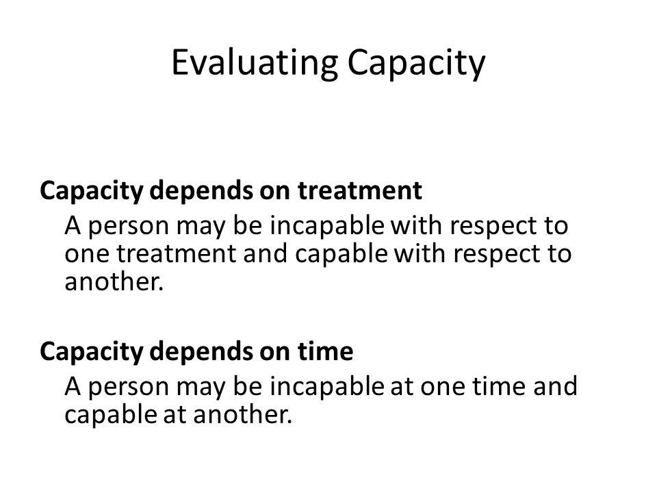 Evaluating Capacity