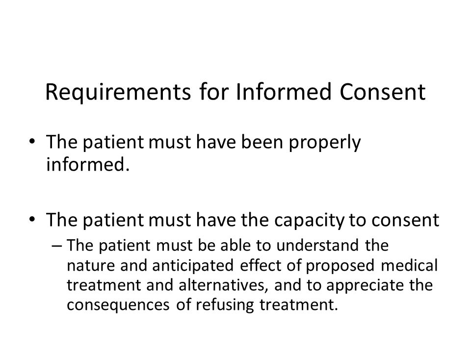 Requirements for Informed Consent