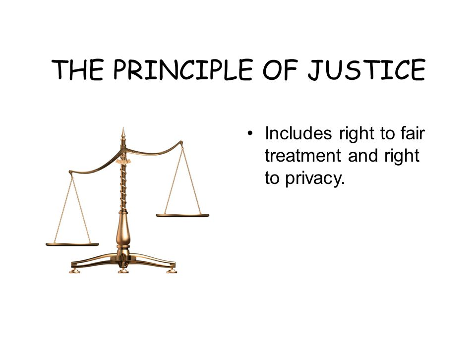 THE PRINCIPLE OF JUSTICE