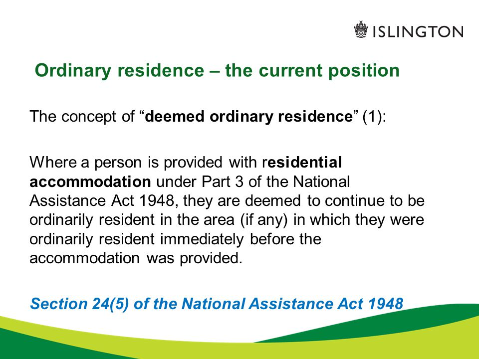 Ordinary residence – the current position