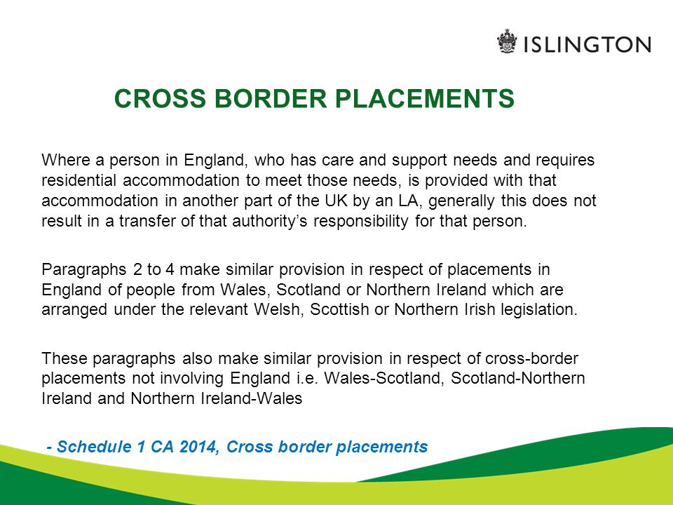 CROSS BORDER PLACEMENTS